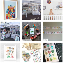 Hide and Peek Nursery art and design Instagram