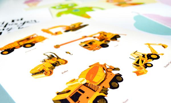 Vibrant Baby Nursery Prints