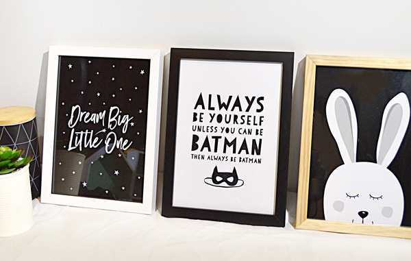 Modern Framed Baby Prints