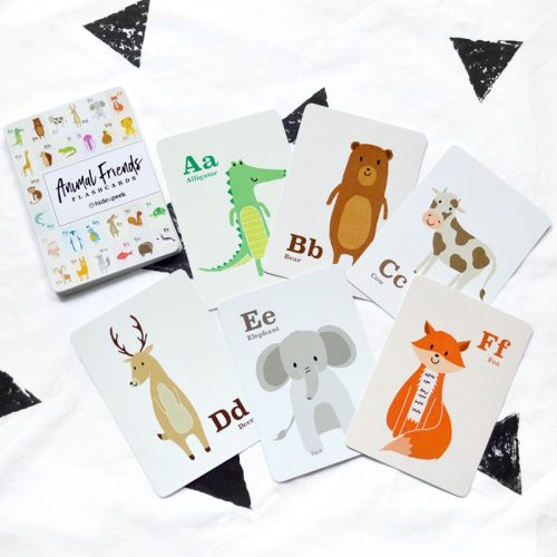 Alphabet Animal Flashcards – Hide and Peek Nursery