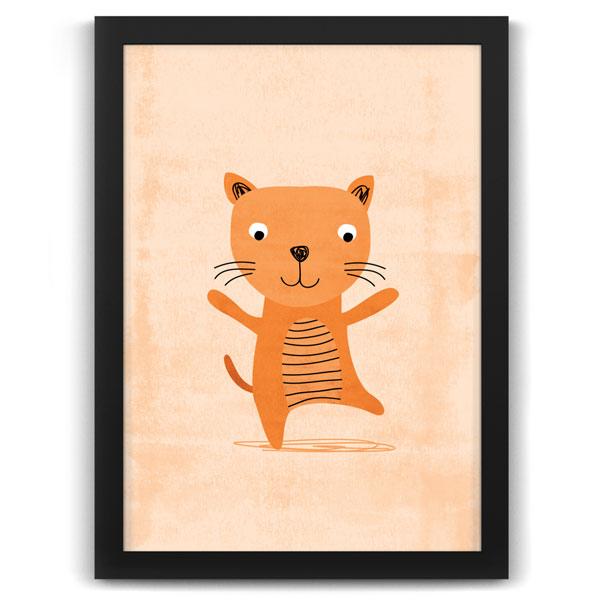 Friendly Cat nursery print