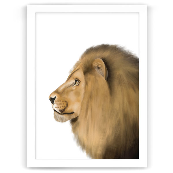 Safari Animals Lion Print