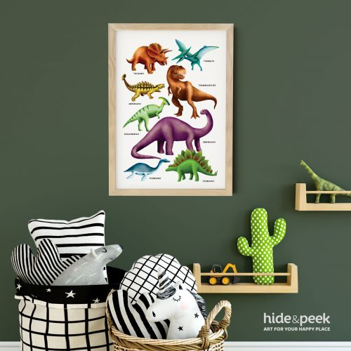 Dinosaur-print-poster-for-nursery-and-kids