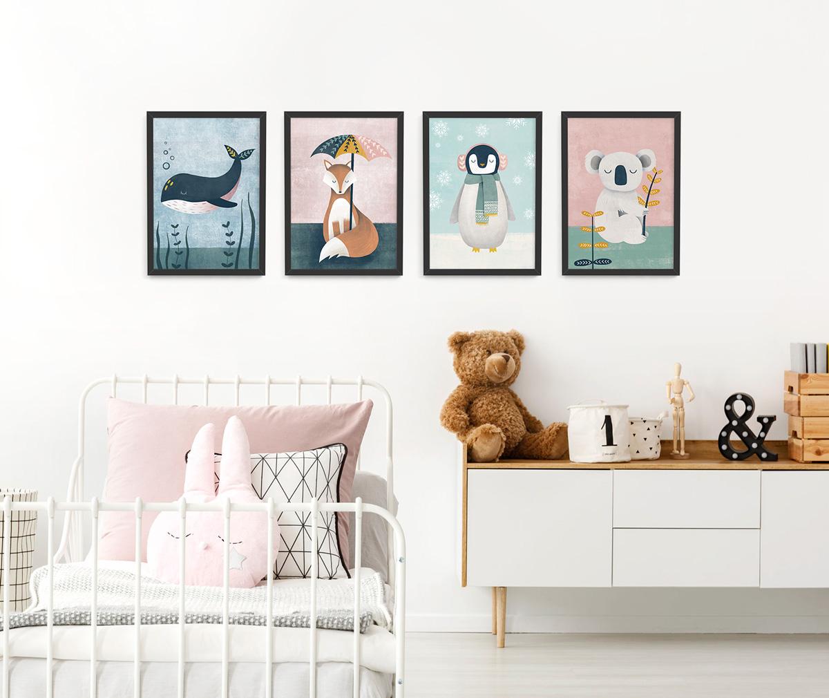 Whale Nursery Print Kids