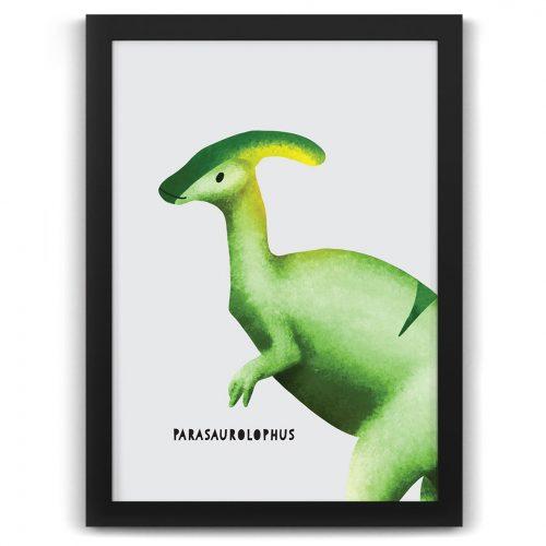dinosaur parasaurolophus nursery kids art print nz