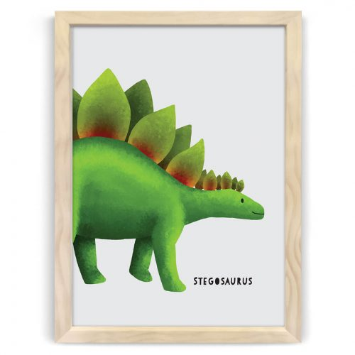 dinosaur stegosaurus nursery kids art print nz