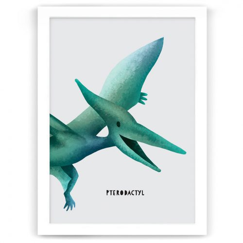 dinosaur pterodactyl print nursery kids art nz