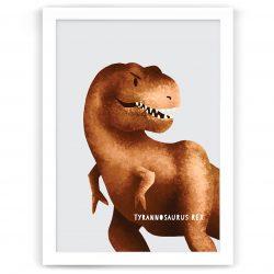 Dinosaur Tyrannosaurus Rex or T-Rex nursery print kids art nz