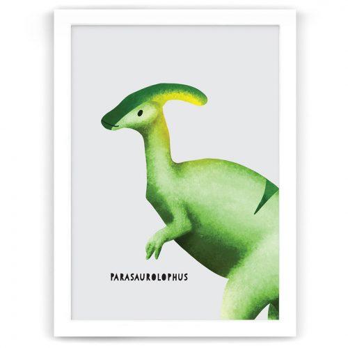 Dinosaur Parasaurolophus nursery art print nz