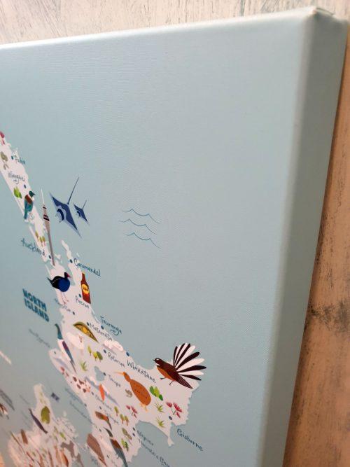 Hide-and-peek-new-zealand-animal-map-print-canvas-nursery-kids-wall-art-down-angle-close-up-canvas
